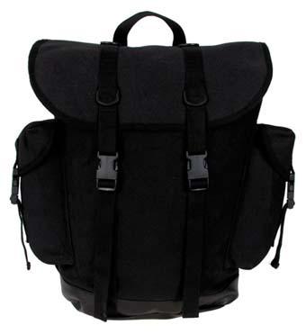 ruksak do hor 30l černý     nový design    plastový uzávěr    ramenní vycpávky    vyztužená spodní část zvodotěsných PVC    2boční kapsy    1vnitřní kapsa    držadlo    objem cca 30l    materiál: 100% bavlna