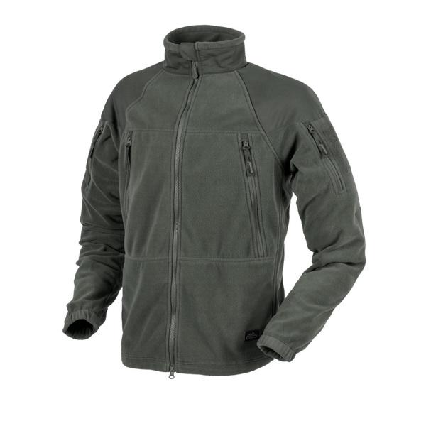 bunda fleece HELIKON Stratus Heavy taiga green Stratus je kvalitní bunda od známé polské značky Helikon-Tex která je vyrobena zfleecu svysokou gramáží (320g/m2). Střih bundy je založen na známé bundě využívané americkou armádou