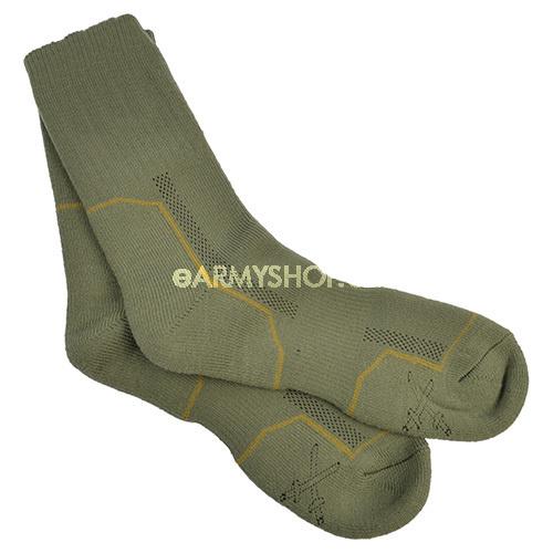 ponožky vzor 2008 10-11     ponožky se osvědčily pro potřebu armády ajsou zavedeny ve výstroji AČR jako základní ponožky do holeňových polních bot    speciální ponožky vyrobené zintegrované polypropylenové (POP) pleteniny    základem je systém dvou vrstev